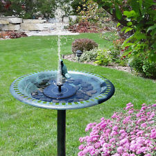 Hot Outdoor Solar Powered Bird Bath Water Fountain Pump For Pool Garden Aquarium