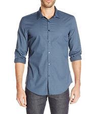 New Mens Calvin Klein Dressy Refined Slim Fit Micro Star Print Shirt Shirt XXL