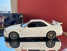 Nissan skyline gtr gt-r r34 1999 autoart 1:18 white