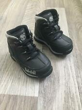 New Kids Baby Toddler Infants Timberland Shoes Lace Boots Black Grey Size UK 5