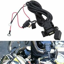 Adapter Cable Socket Connector USB Battery Handlebar For Waterproof Motorcycle