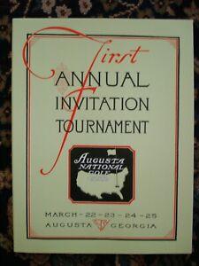 Vintage MINT Unopened 1934 1st MASTERS Program AUGUSTA NATIONAL GOLF CLUB