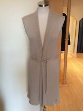 Olsen Sleeveless Cardigan Size 18 BNWT Beige With Belt RRP £89 Now £40