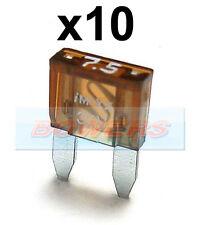 PACK OF 10 12V 24V VOLT 7.5A AMP BROWN MINI BLADE FUSES KIT CAR VAN MARINE