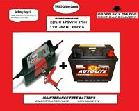 Autolite 063 Car Battery 45AH + 12V Electronic Smart Charger Fast Trick