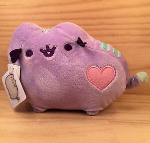 """PUSHEEN KITTY CAT """"Purple"""" Gorgeous Little Cuddly Animal Soft Toy Friend GUND"""
