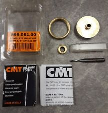 """CMT 899.051.00 Complete inlay Kit with Solid Carbide Spiral Bit 1/4"""" shank"""