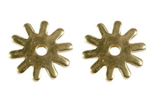 """Pair Brass Spur Rowels No 42 / 1.1/14""""  10 Points Cowboy Boots Replacement"""