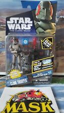 Star Wars The Clone Wars Clone Trooper Stealth Ops with Jet Pack bonus game CW57