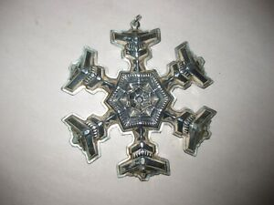 1977 Gorham Sterling Silver Snowflake Christmas Holiday Ornament Gift