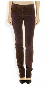 ANTHROPOLOGIE NWT $295 Theyskens' THEORY Palak Skinny Stretch Pants Sunset Sz 25