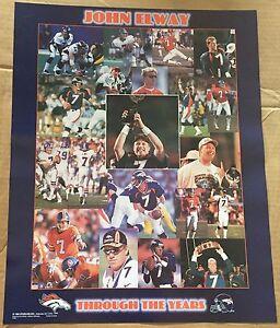 John Elway Denver Broncos Thru the Years 16x20 Starline Poster OOP