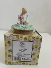 """New ListingPrecious Moments Girls With Goose Candle Topper """"770752�"""