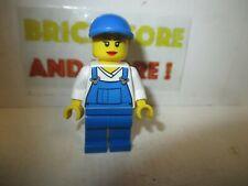 Lego - Minifigures - City - Overalls Blue over V-Neck Shirt 4432 cty0269