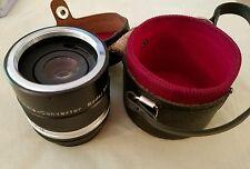 VINTAGE VIVITAR AUTO 3x CUSTOM Tele-Converter model 3x-1 lens & CASE;  Japan