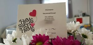 12 Personalised Change of Address Home sweet home new House Moving Cards