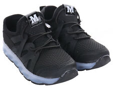 UK Stock Kids Girls Boys LED Trainers Light up Shoes SNEAKERS Flashing Casual Black Eur26