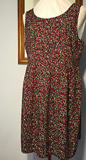 Miss Shop Micro Floral Dress with Waistline Seam and Exposed Rear Zip ♡ Size 12