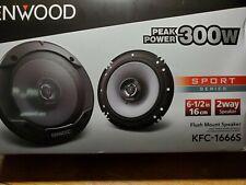 Kenwood pair speakers 6.5 mod3l kfc-1665s 2 way  300 watts