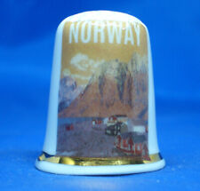 Porcelain China Collectable Thimble Empire State Building New York with Free Gift Box
