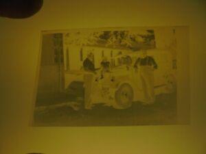 Ancien Négatif Photo Automobile des années trente à identifier