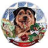Norfolk Terrier Black/Tan Dog Porcelain Ornament 'Santa. I Can Explain!'