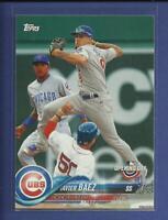 Javier Baez 2018 Topps Opening Day Card # 26 Chicago Cubs Baseball MLB