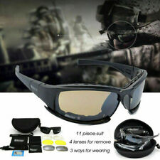Daisy X7 UVA/UVB Tactical Military Style Glasses Goggles Motorcycle Sunglass Kit