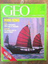 GEO n°95,janv.1987:Nucléaire,Sénégal,Amérique latine,Hong Kong,Rats,Grand Nord