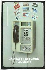 CHORLEY TEST CARD #11 MINT GPT PHONECARD - V RARE