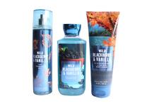 Bath & Body Works Wild Blackberry Vanilla Mist Shower Gel Body Cream (Set of 3)