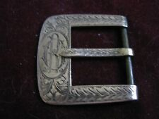 """on Brass Belt Buckle for <1 1/8"""" Antique Hand Chaised Thick 10K Rose Gold Plaque"""