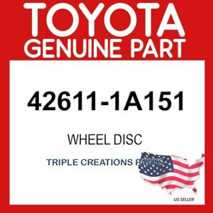 TOYOTA GENUINE 426111A151 WHEEL DISC 42611-1A151