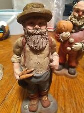 Vintage Sarahs Attic Resin Collectible Figurine Farmer Santa 1988 #368