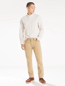 Levi's 502 Men's Big & Tall Regular Taper Fit Jeans Khaki Tan Denim 50 x 34 New