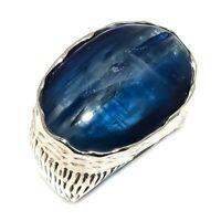 Kyanite Natural Gemstone Handmade 925 Sterling Silver Ring Size 8.5 SR-210