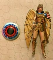 DC Direct Kingdom Come Series 3 Armored Wonder Woman Action Figure 2003 toy fig!