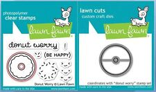 Lawn Fawn Photopolymer Clear Stamp + Die Combo ~ DONUT WORRY  ~LF1136, LF1137
