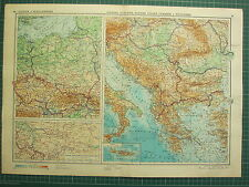 1955 LARGE RUSSIAN MAP ~ GREECE ~ CRETE PHYSICAL