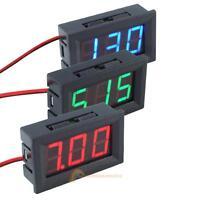DC 4.5-30V Wires LED 3-Digital Mini Voltmeter Meter Display Voltage Panel Tester