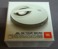 JBL ON TOUR MICRO PORTABLE IPOD IPHONE IPAD MP3 LAPTOP PC SPEAKER SYSTEM WHITE