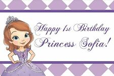 """24""""x48"""" Custom Princess Sofia the First Personalized Birthday Party Banner"""