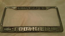 Glendale FWY @ 210 FWY Chevrolet CA Metal License Plate Frame Tag Embossed
