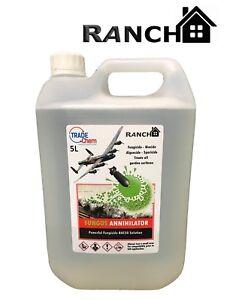Funghi Annihilator BAC50 Benzalkonium Cloruro Soluzione Alghe Fungicida 5L