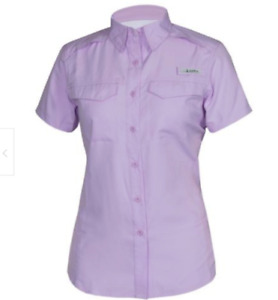 Habit Women's Pastel Purple Short Sleeve River Shirt  40+ SPF Size S