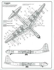 Warbird B-36 Peacemaker Walkway, Stencil, Data, Common Marking Decals 1/72 003
