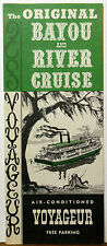 1960's New Orleans Louisiana Bayou River Cruise vintage brochure map b