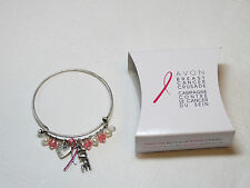 Ladies Womens Avon Breast Cancer Crusade Charm Bracelet F3983781 NIP;;