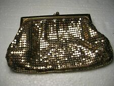 Vintage Whiting & Davis Goldtone Mesh Snakeskin-like Purse,  No. 2960, 6""