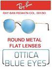 Occhiali da Sole RAYBAN RB3447N 001/9O ROUND METAL FLAT LENS Sunglasses Ray Ban
